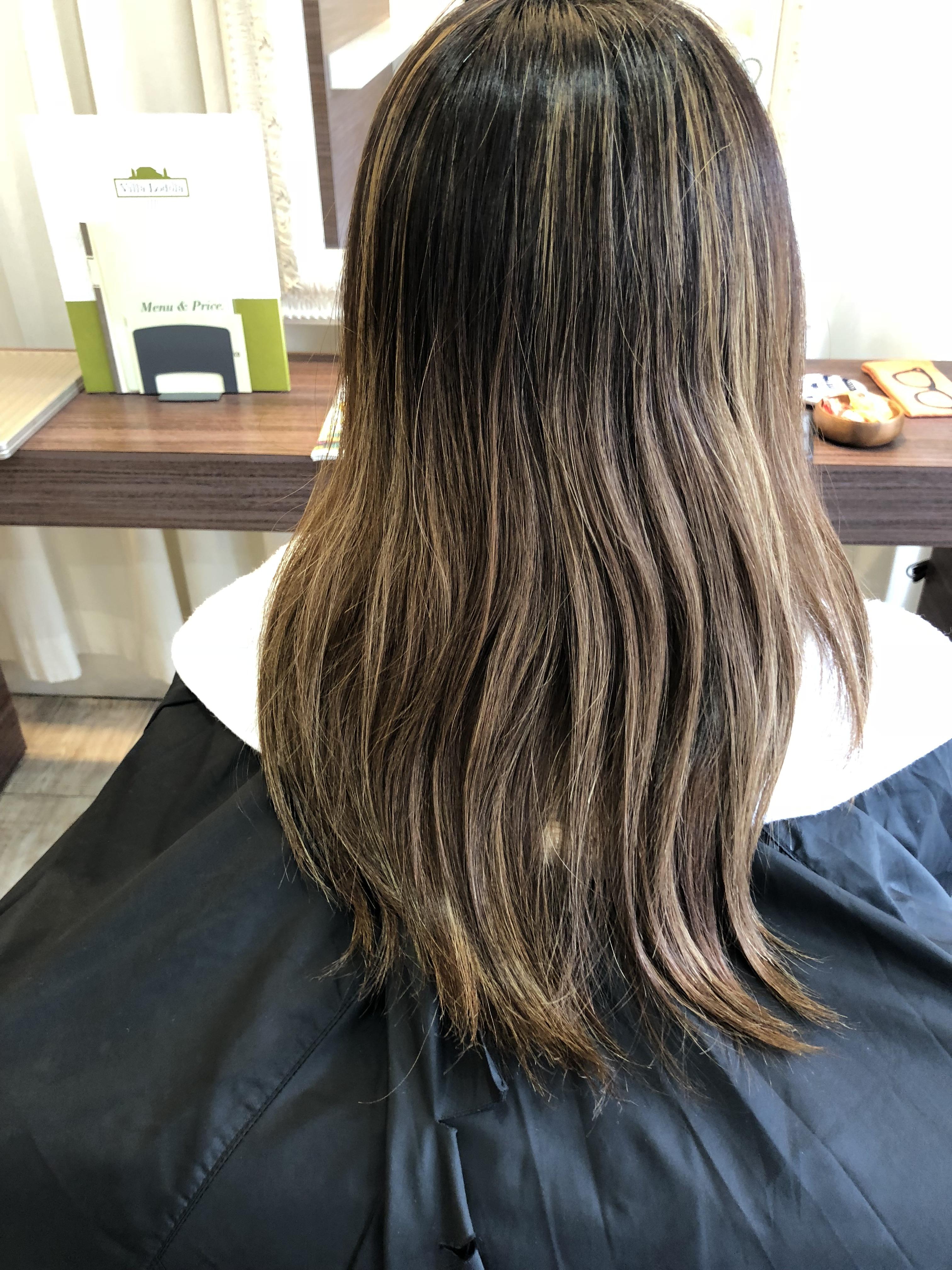 施術前のヘアスタイル(全体)
